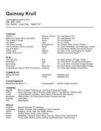 Dancer Resume Template Dance Resume Format Make A Dance Resume Sample Customer Service