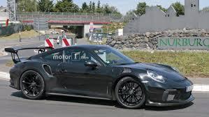 porsche 911 gt3 rs 2018 porsche 911 gt3 rs spied flaunting naca ducts