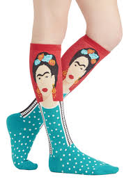 cool cycling socks cycling socks pinterest socks frida be me socks in red and teal express your fiercely creative