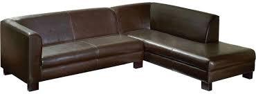 canapé d angle fixe droit cubick 2 coloris marron