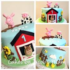 farm cake toppers barnyard cake toppers 5 edible fondant farm animals topper by