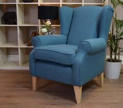 chair classy teal velvet wingback chair leather wing back accent