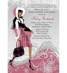Christmas Baby Shower Invitations - winter baby shower invitation pink african american mommy