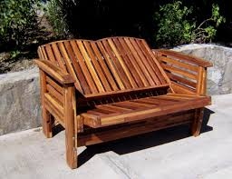 Cushions For Reclining Garden Chairs Reclining Redwood Loveseat Custom Outdoor Wood Recliners