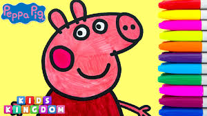 peppa pig coloring pages for kids episode fun creative drawing