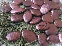Wishing Rocks For Wedding Gold Wedding Guest Book Alternative Gold Place Cards By Wildferera