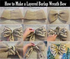 burlap ribbon bow how to make a chevron burlap bow for a wreath the fall