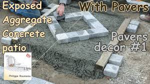 Exposed Aggregate Patio Stones Exposed Aggregate Concrete Installation How To Make A Patio
