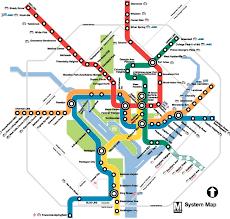 washington dc region map washington dc subway map