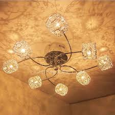 Flush Ceiling Lights Living Room Modern 8 Light Semi Flush Ceiling Light G4 L Holder