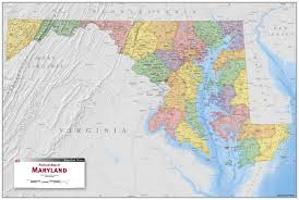 Potomac River On Map Maryland Political Wall Map Maps Com