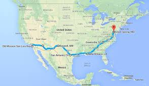 United States Road Trip Map by Road Trip Breaking In The Habit