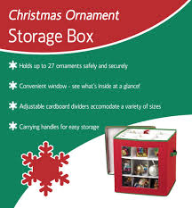 Christmas Ornament Cardboard Storage Boxes by See Through Christmas Ornament Storage Box For 27 Large Ornaments