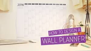 Wall Calendar Organizer Diy 2016 Wall Planner Design Tutorial Charlimarietv Youtube