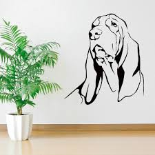 online shop home decor free shipping basset hound dog vinyl wall