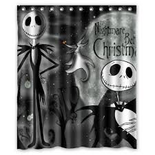 Heart Bathroom Accessories New Bathroom Nightmare Before Christmas Waterproof Shower Curtain