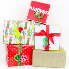 chic wrapping paper wrap it 3 gift wrapping pairings and diy cacti gift tags wraps
