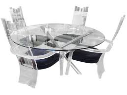 glass chrome dining table furniture acrylic dining chairs inspirational chrome and glass