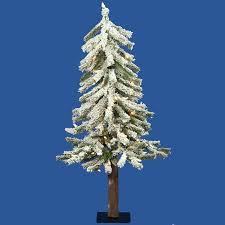 buy set of 3 pre lit flocked woodland alpine christmas trees 3 u0026 39