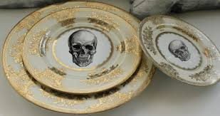 reserved for kateryna 8 skull dinnerware sets 4 pieces