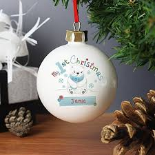 Baby First Christmas Tree Bauble by Baby U0027s First Christmas Bauble Amazon Co Uk