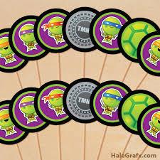 free printable tmnt ninja turtle cupcake toppers ninja turtles