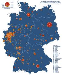 größte stadt deutschlands fläche liste der groß und mittelstädte in deutschland