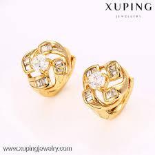 beautiful gold earrings images 27173 18k gold plated diamond earring beautiful golden