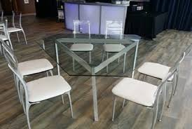 gia triangle dining table kool party rentals