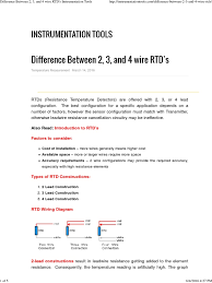 difference between 2 3 and 4 wire rtd u0027s instrumentation tools