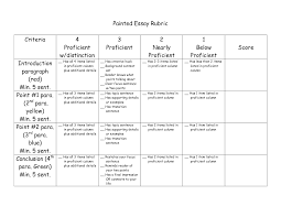 Expository Essay Format Painted Essay Rubric By Noonans Language Arts Pinterest