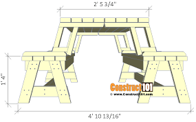 Folding Picnic Table Plans Folding Picnic Table Plans Easy To Build Projects Construct101