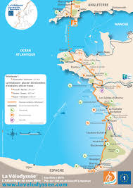 Brittany France Map The Longest Cycling Trail Of France The Velodyssey Hiking And
