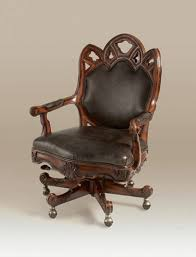 goth office chair hand carved umber finished mahogany gothic