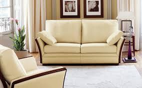 canape cuir et bois canapé classique en cuir en bois 2 places camille burov