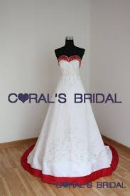 Red And White Wedding Dresses Coral U0027s Bridal