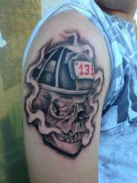 lucky bamboo tattoos skull fireman skull