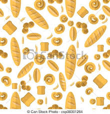 seamless pattern food bakery seamless pattern food background fresh baked clip art