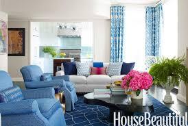 blue manhattan apartment decorating with blue