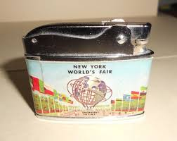 1964 World S Fair Map by Vintage Vulcan Cigarette Lighter New York World U0027s Fair Unisphere