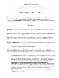 simple contract agreement form template examples