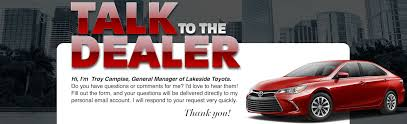 lakeside toyota used cars to the dealer lakeside toyota