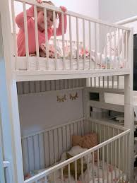 Bunk Bed Cribs Crib Bunk Bed Hacked From Ikea Gulliver Cots Ikea Hackers