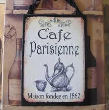 Shabby Chic Paris Decor by French Cafe Sign Paris Decor Shabby Cottage Chic French