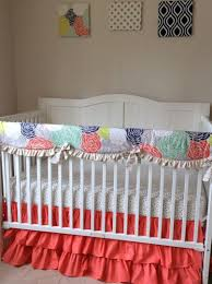 coral baby bedding blush pink and coral crib bedding pink