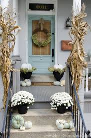 Outdoor Fall Decor Fall Decor Elegant Ways To Decorate With Pumpkins
