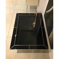 contemporary art deco italian black glass and brass coffee table contemporary art deco italian black glass and brass coffee table on curved legs
