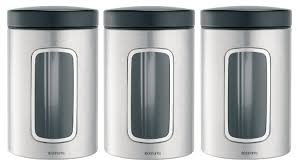 brabantia window canister set fingerprint proof 1 4 l matt
