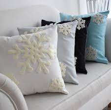 bedding throw pillows amazon com e life soft square christmas snowflake theme home