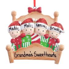 personalized family in bed ornament tree decorations kimball